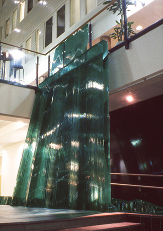 glass sculpture waterfall